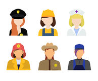 big set of different professions royalty free illustration