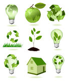 Big set of ecology icons. Royalty Free Stock Image