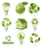 Big set of ecology icons. Stock Photography