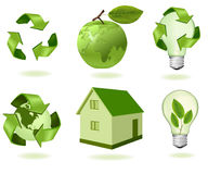 Big set of ecology icons. Royalty Free Stock Photo