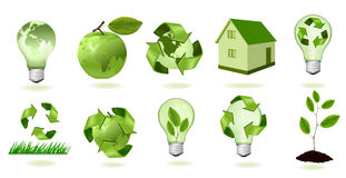 Big set of ecology icons. Vector. Royalty Free Stock Photo