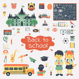 Big set of education flat icons Royalty Free Stock Photography