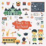 Big set of education flat icons Royalty Free Stock Photography