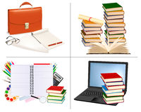 Big set of education and office backgrounds. Royalty Free Stock Photos