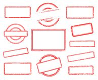 Set of empty rubber stamps. Big set of empty rubber stamps. Vector illustration on white background vector illustration