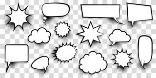 Big set empty speech bubble comic text royalty free illustration