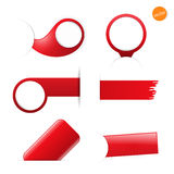 Big set of empty tags with place for you graphic or text Royalty Free Stock Images