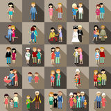 The big set of family life in style flat design Royalty Free Stock Photos
