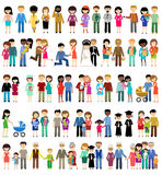 Big set of family life in style flat design Stock Photos