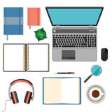 Big set of flat design items for business and Stock Photo