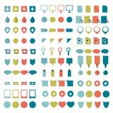 Big set of flat icons. Stock Photo