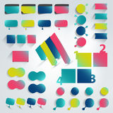 Big set of flat info graphic elements. Stock Photography