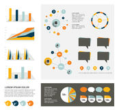 Big set of flat infographic elements. Royalty Free Stock Photo