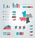 Big set of flat infographic elements. Stock Photo