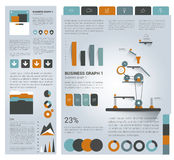 Big set of flat infographic elements. Stock Photos