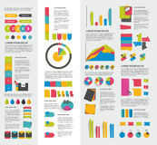 Big set of flat infographic elements. Stock Photo