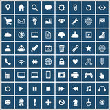 Big set of flat vector icons Royalty Free Stock Photos