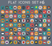 Big set of flat vector icons with modern colors Stock Image