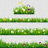 Big Set Flowers Borders stock illustration