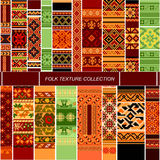 Big set folk pattern Stock Photos