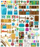 Big set of furniture Royalty Free Stock Image