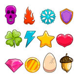 Big set with game items icon Stock Photography