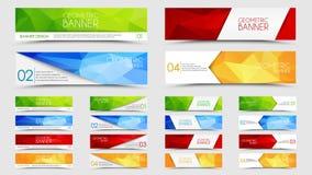 Big set of geometric polygonal banners Stock Images