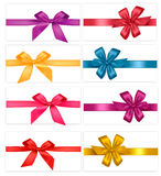 Big set of gift bows with ribbons. Vector. Stock Photography