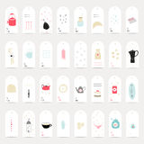Big set of gift tags Royalty Free Stock Image
