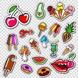 Big set of Girl Fashion Comics Style Patch Badges Royalty Free Stock Photos