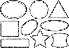 Big set of grunge templates for rubber stamps Royalty Free Stock Images