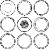 Big set of grunge templates for rubber stamps Royalty Free Stock Image