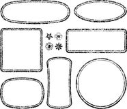 Big set of grunge templates for rubber stamps with auxiliary elements royalty free illustration