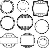 Big set of grunge templates for rubber stamps.  vector illustration