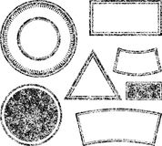 Big set of grunge templates for rubber stamps. Vector illustration Royalty Free Stock Images