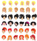 Big set of hair styling Royalty Free Stock Photography