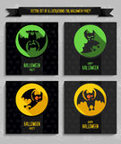 Big set Halloween vector cards in style flat about vampire Stock Photo