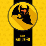 Big set Halloween vector cards in style flat about vampire Royalty Free Stock Images