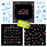 Big set of hand drawn love elements Royalty Free Stock Photos