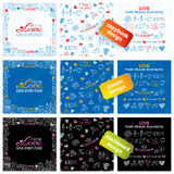 Big set of hand drawn love elements Stock Photo