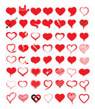 Big set of heart. Vector illustration. Stock Photography