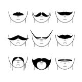 Big set of  hipster mustache. Stock Photography
