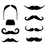 Big set of  hipster mustache. Royalty Free Stock Images