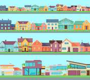 Big Set of Houses, Buildings and Architectures Royalty Free Stock Images