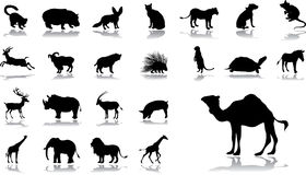 Big set icons - 11. Animals. Set of 23 vector icons for web Royalty Free Stock Images