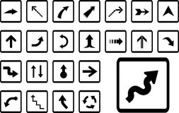 Big set icons - 13B. Arrows Royalty Free Stock Photography