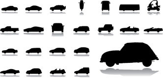 Big set icons - 14. Cars Royalty Free Stock Photos