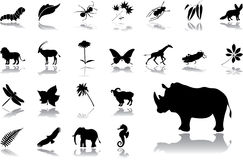 Big set icons - 16. Nature Royalty Free Stock Images