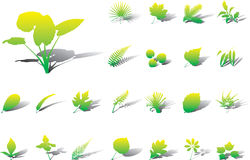 Big set icons - 17A. Leaves Royalty Free Stock Photography