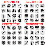 Big set of  icons Royalty Free Stock Photo